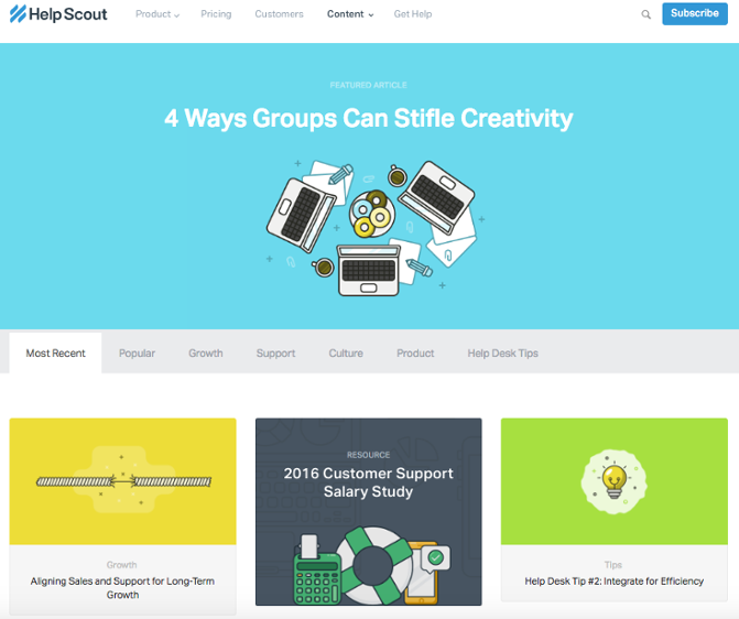 Blog Designs Also Help Scout Cool Interface Homepage Design Rh