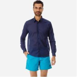 Herren Ready to Wear - Solid Unisex-Hemd aus Baumwollvoile - Hemd - Caracal - Blau - Xs - Vilebrequi #cottonstyle