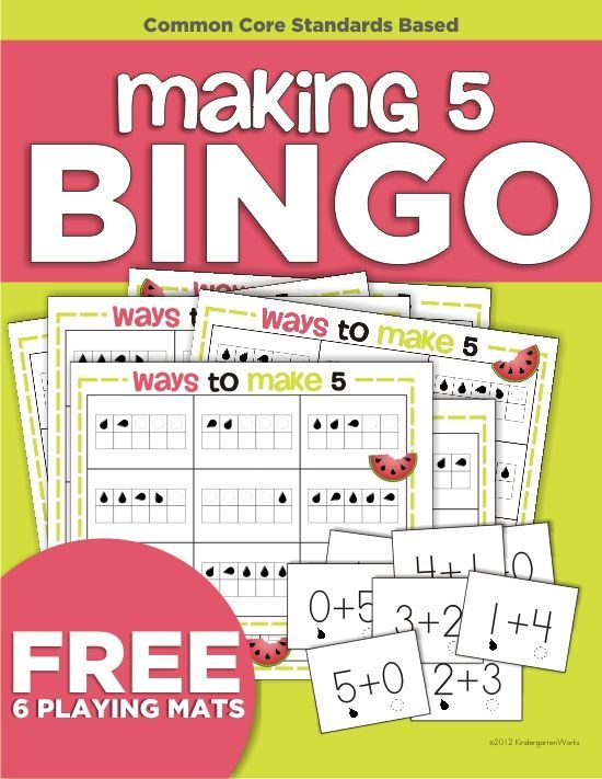 Making 5 Addition Bingo Game {Printable | Addition activities, Pre ...