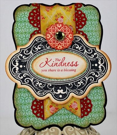 Kindness card designed by Eva Dobilas using Spellbinders Labels Twenty.