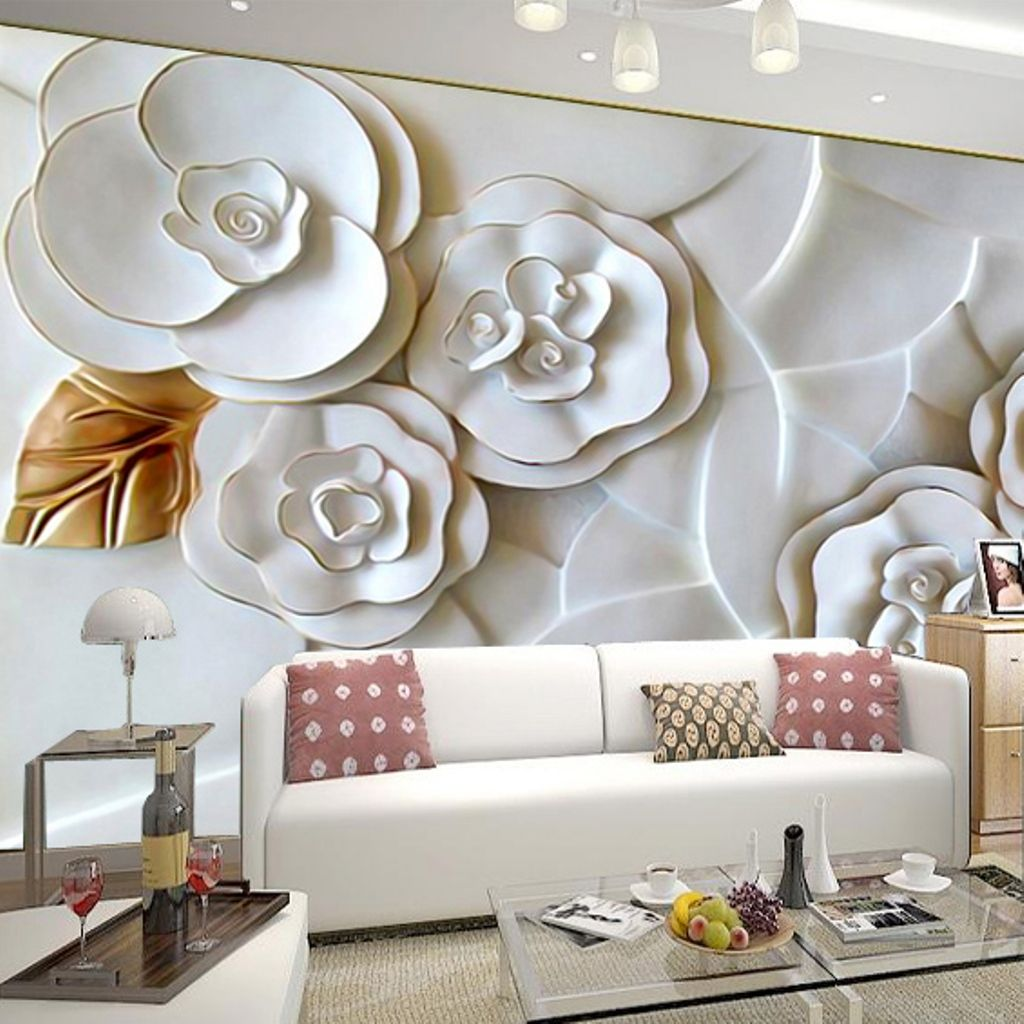 Family Room Modern Magnolia 3D Floral Wall Decor For Impressive