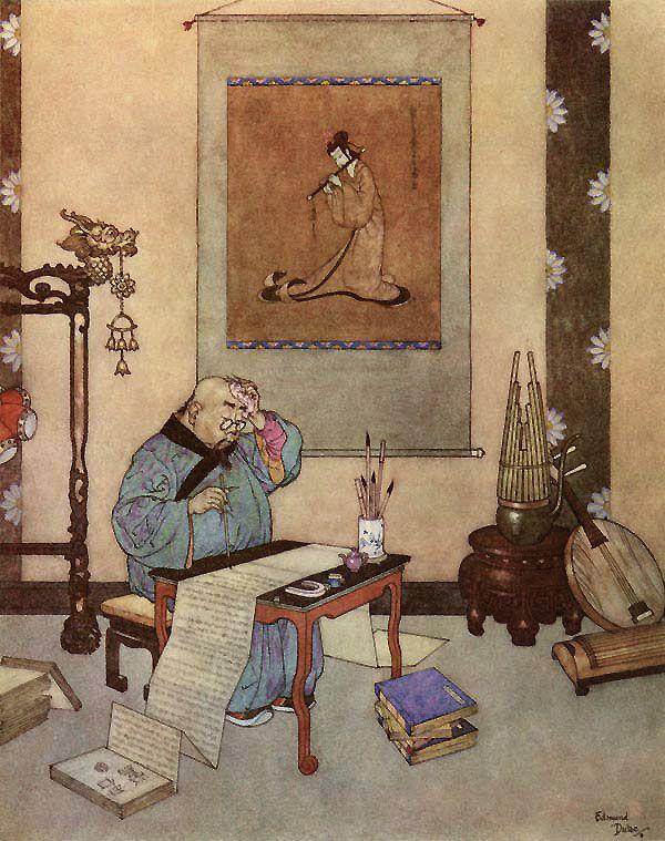 The Nightingale by Hans Christian Andersen. Illustrator: Edmund Dulac