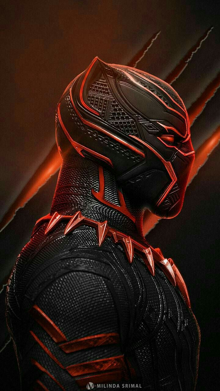 Black Panther in Red ♥ Black panther marvel, Black