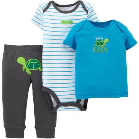 Walmart Baby Boy Clothes Amazing Child Of Minecarter's Newborn Baby Boy 3 Piece Set  Walmart Design Ideas