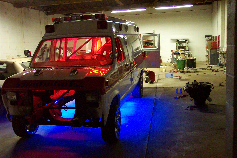 Monster Garage Ambulance Wheelie Car Neon Http Www