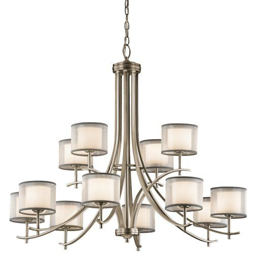 Found it at wayfair ronald 12 light shaded chandelier