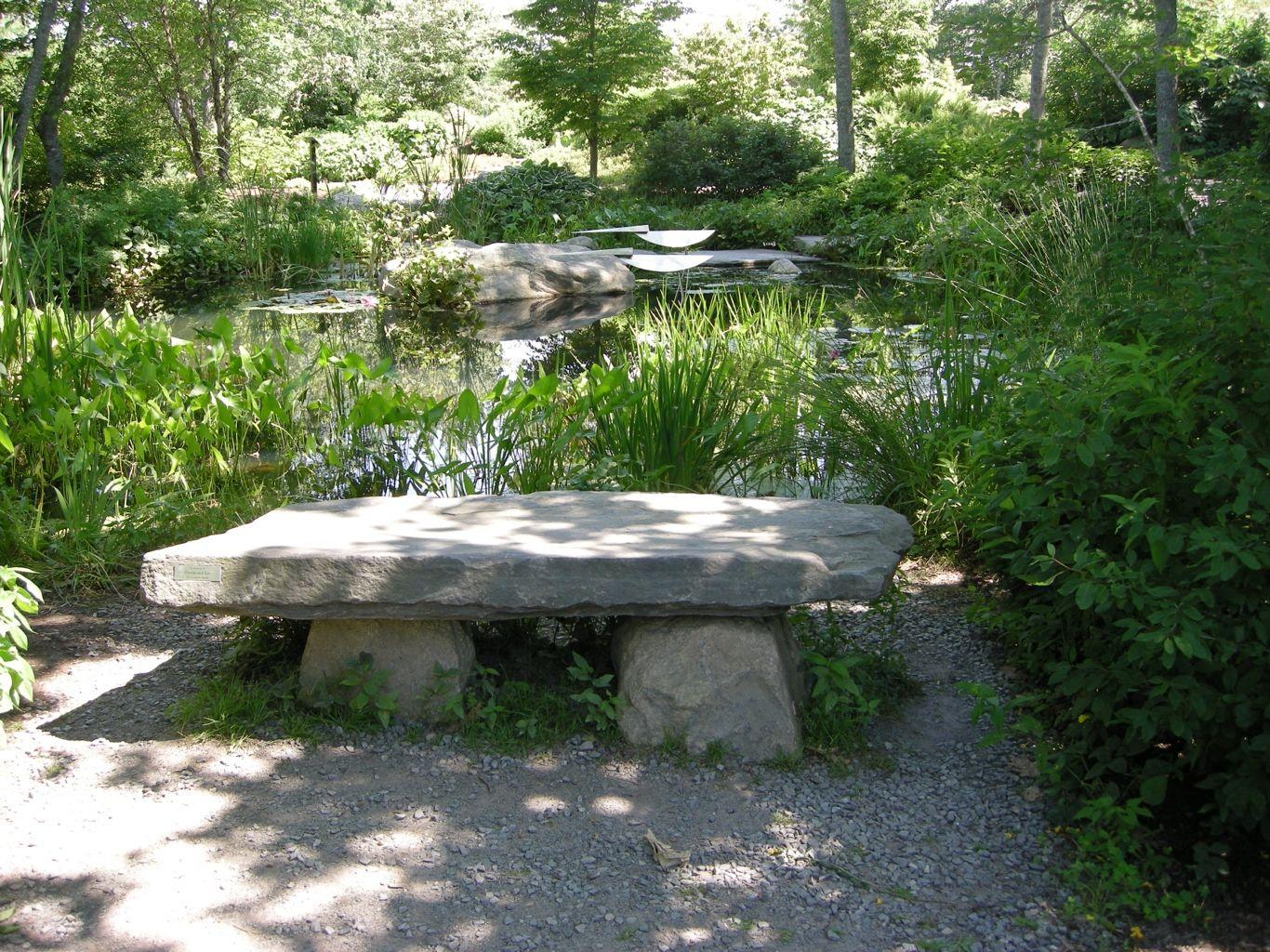 Natural Rock Garden Seating  Stone garden bench, Garden seating