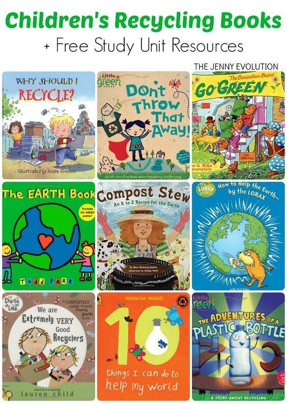 Children S Books On Recycling Study Unit Resources Recycling For Kids Recycle Preschool Recycling Lessons