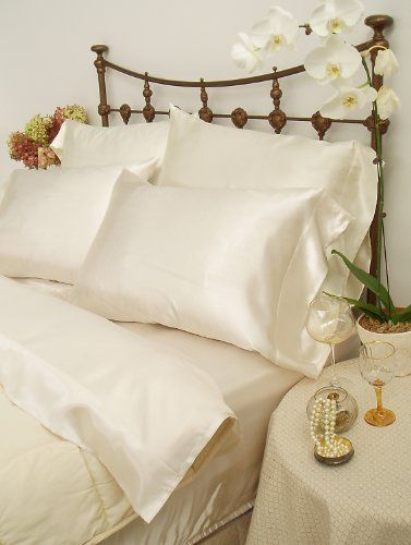 Scent Sation Charmeuse Satin Standard Pillowcase Pair Bone By Scent Sation 15 72 100 Polyester Satin On Both S Pillow Cases King Pillows Satin Pillowcase
