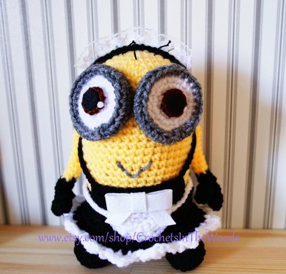 Crochet Amigurumi 10 Plush Doll Minion Phil by CrochetsInTheWoods ...