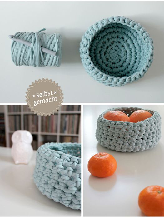 Schale für Obst und Co. | Crochê/Crochet/Tricô/Tricot | Pinterest ...
