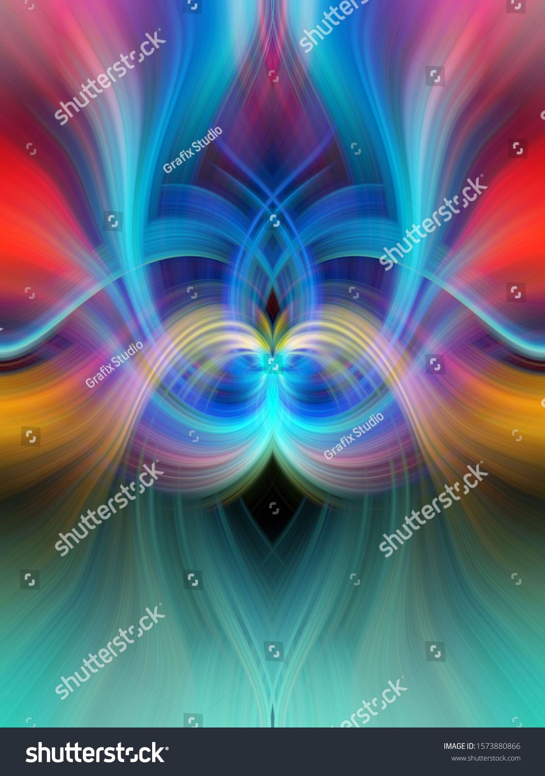 Beautiful Abstract Background Graphic Modern Art Colorful Floral