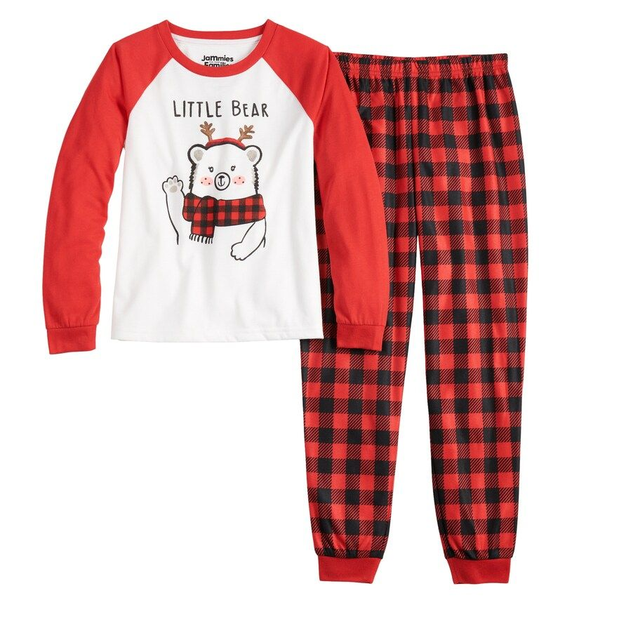 Girls 4 16 Jammies For Your Families Cool Bear Top Bottoms