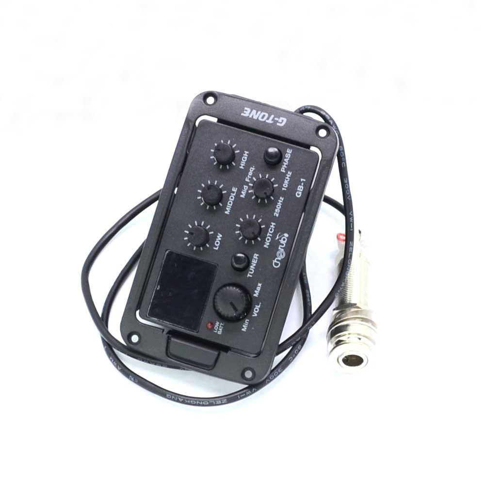 5 Band Lc 5 With Micro Phone Acoustic Guitar Pickup Guitar Eq Preamp 5 Band Eq Equalizer Pickup Tuner Lcd For A Acoustic Guitar Pickups Guitar Pickups Acoustic
