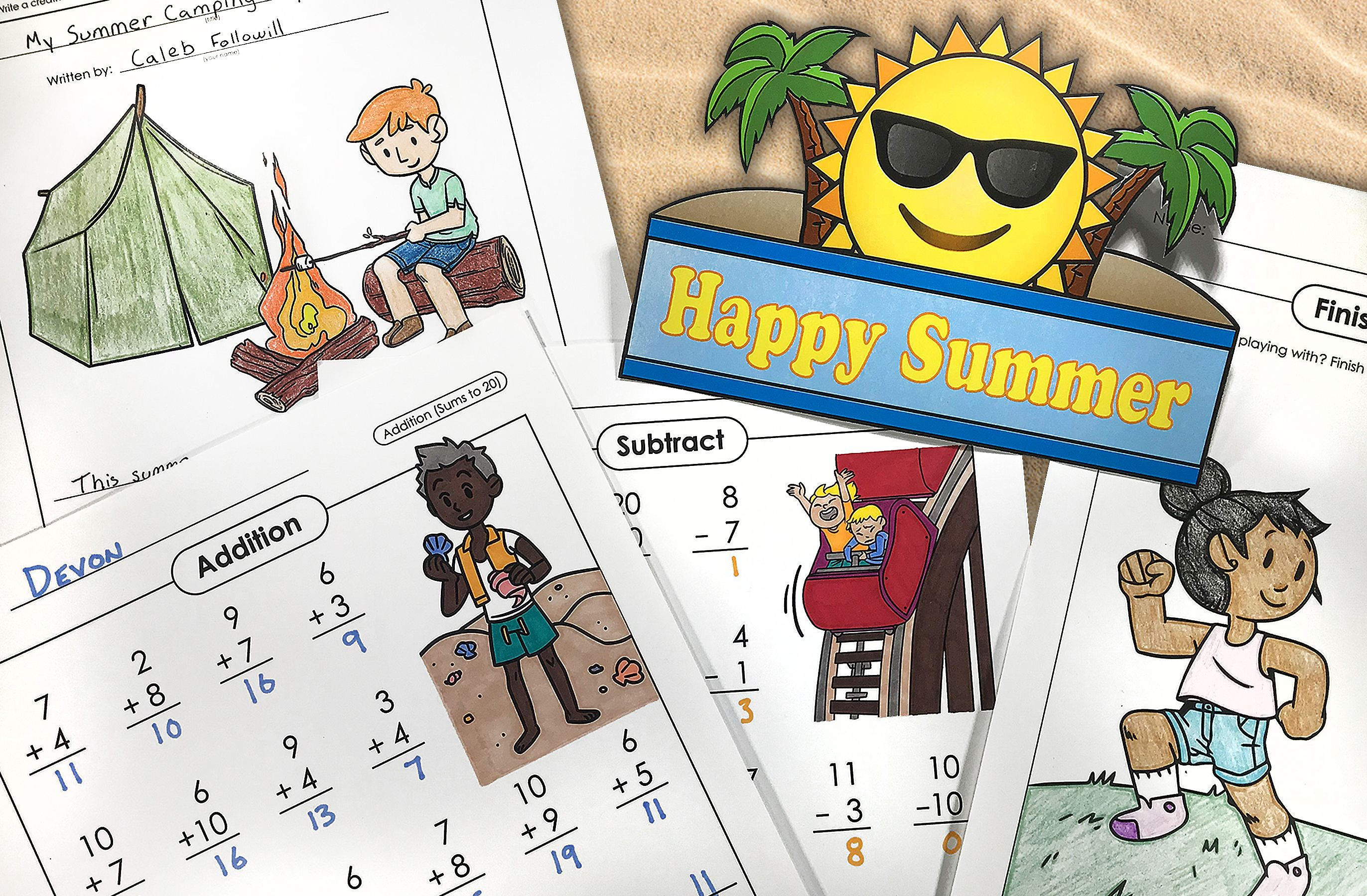 Print Out Fun Summer Worksheets And Activities From