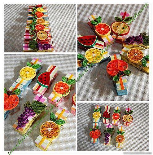 Prendedores com imãs... frutinhas variadas ,sua geladeira … | Flickr