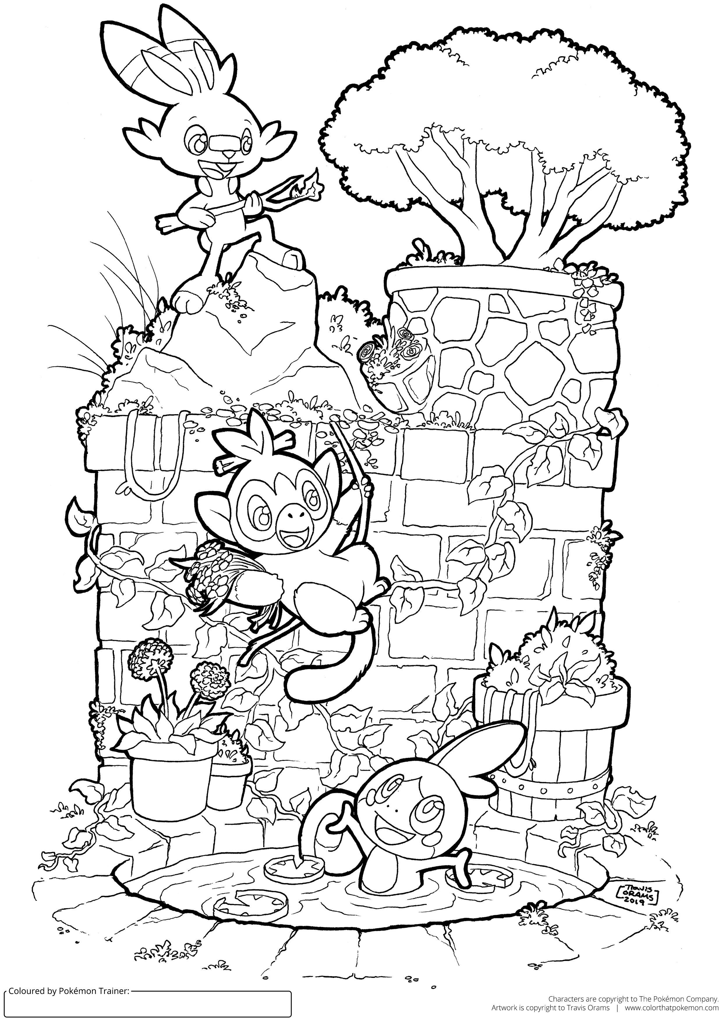I Made A Galar Starter Pokemon Colouring Page Coloriage Pokemon Coloriage Pokemon