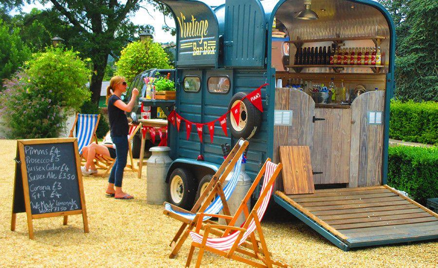 Horse box mobile bar hire sussex food truck food van - Mobile bar vintage ...