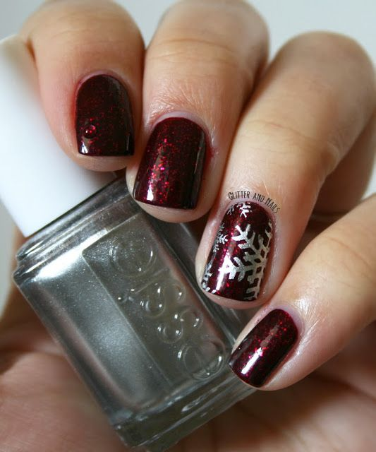 Grenat & Flocon. Essie Toggle to the Top | Uña decoradas, Arte en ...