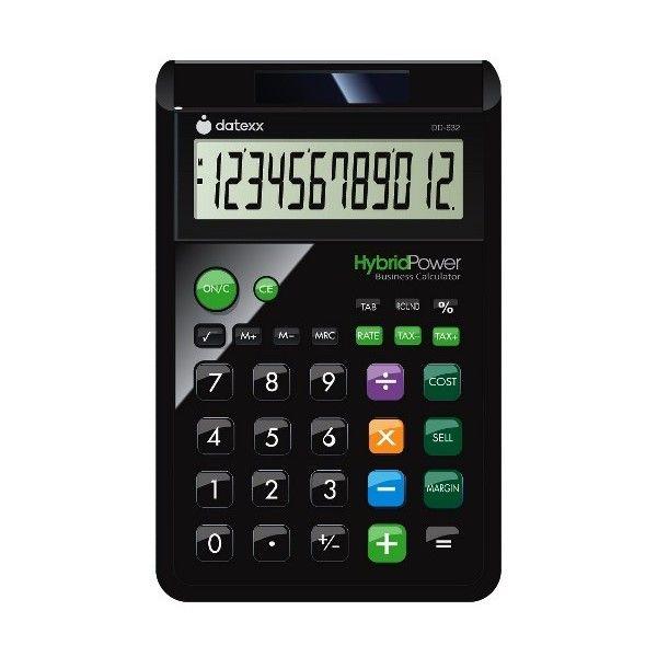 Datexx 12 Digit Designer Large Desktop Calculator With