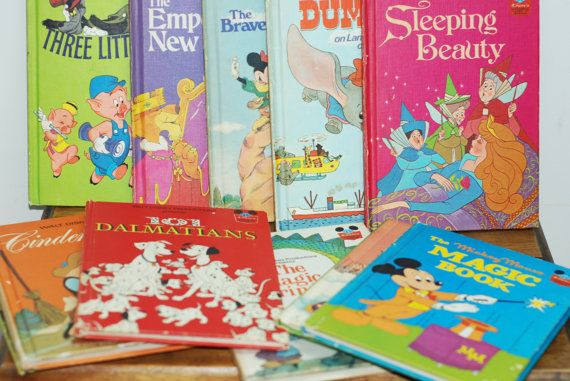 Vintage 1970's Walt Disney Classic Children's Book Collection - I couldn't wait to get my books in the mail!!