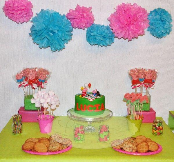 candy bar peppa pig mesas dulces cumpleaos infantiles