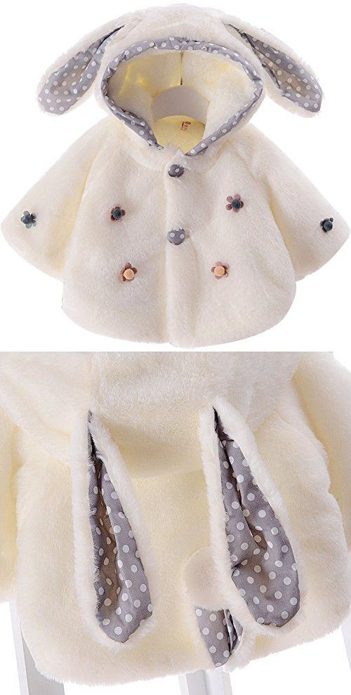 016acfed2 Baby Girl Fur Winter Warm Coat Cloak Jacket Thick Warm Clothes size ...
