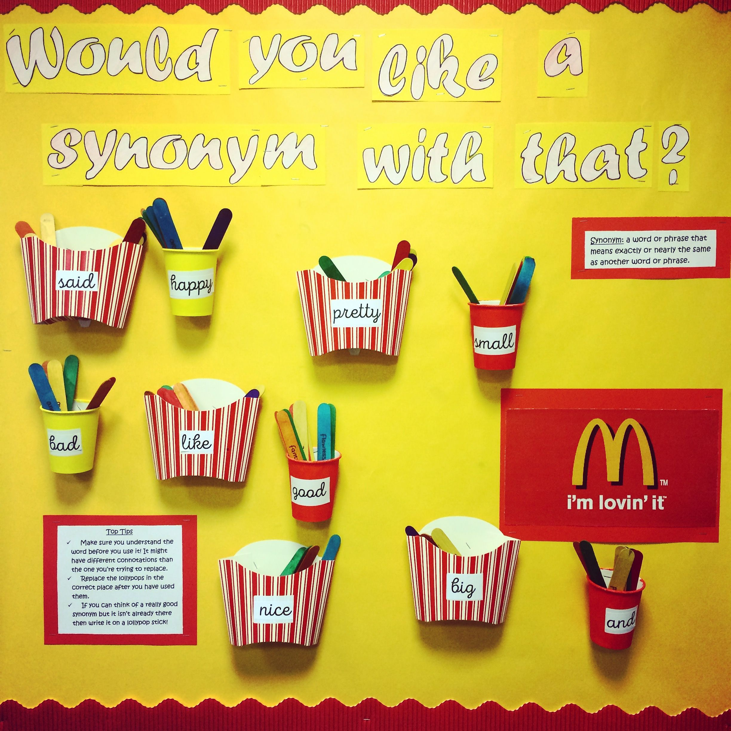 Would you like a synonym with that? display board. Ks3 ... - photo#31