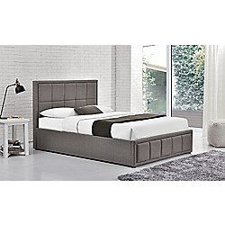 Magnificent Happy Beds Hannover Grey Fabric Ottoman Storage Bed Frame Short Links Chair Design For Home Short Linksinfo