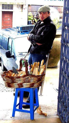 Vendedor ambulante de facas