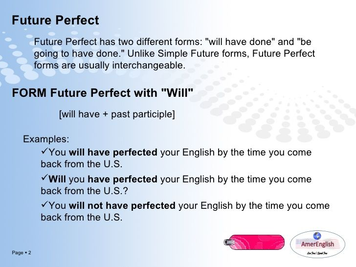 Image result for Future Perfect Tense with images English tenses - simple will form