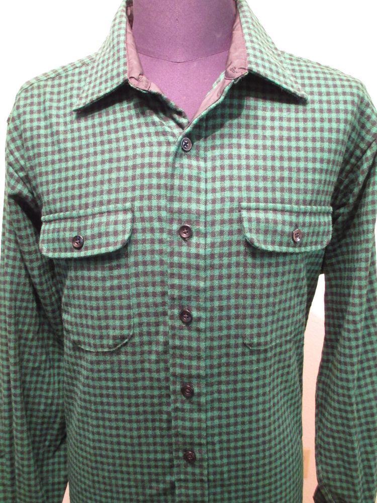 Vintage LL Bean Shirt Men's Size XL Long Plaid Flannel Wool Lumberjack Hunting #LLBean #Western