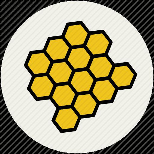 Beehive Beeswax Hexagon Hive Honey Honeycomb Icon Bee Outline Bee Hive Simple Cartoon