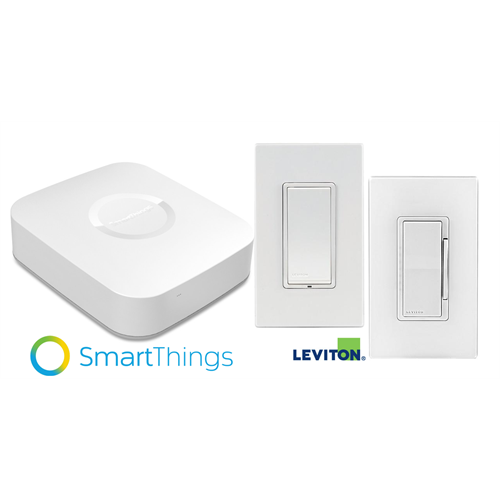 Samsung SmartThings V2 Smart Hub with Leviton Dimmer