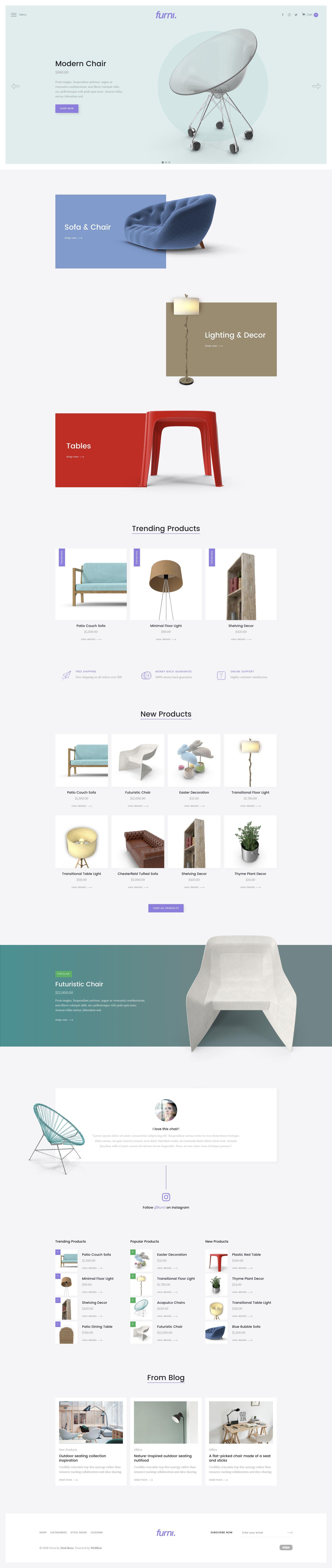 Furni Website Template furniture