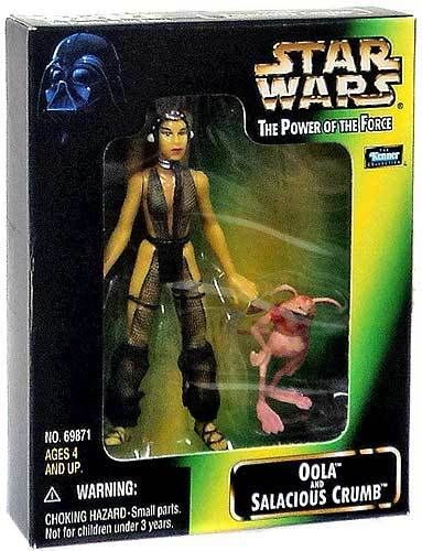 Star Wars Return of the Jedi Power of the Force POTF2 Deluxe Oola & Salacious Crumb