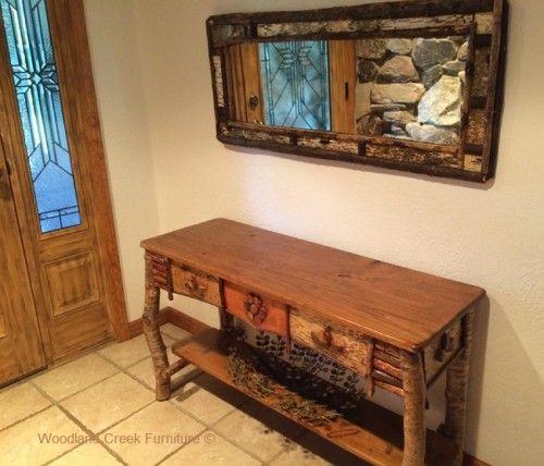 Incredible Birch Bark Sofa Table Adirondack Style Rustic Sofa Table Machost Co Dining Chair Design Ideas Machostcouk