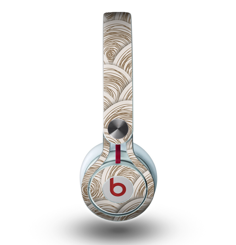 The Layered Tan Circle Pattern Skin for the Beats by Dre Mixr Headphones