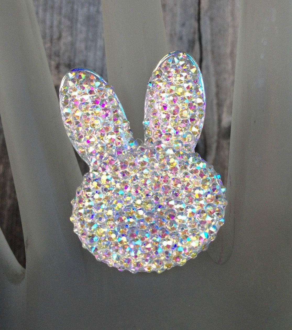 Rhinestone Bunny Ring