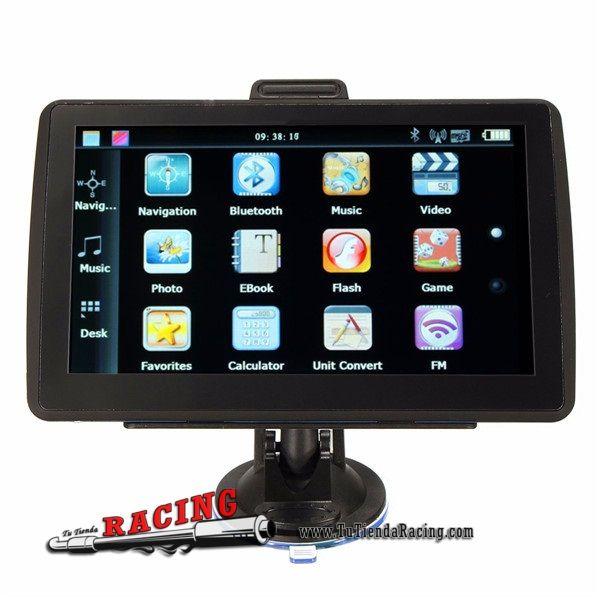 Monitor Navegador GPS Memoria 8GB Pantalla de 7 Pulgadas Táctil FM Bluetooth -- 61,64€