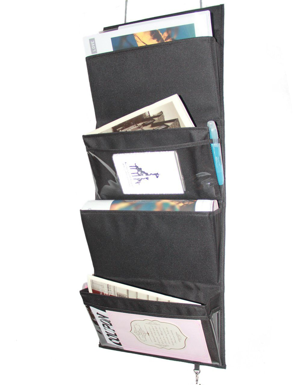 office door mail holder. Misslo Mail Organizer Wall Mount Over The Door Magazine Storage (4 Pockets, Black) Office Holder ,