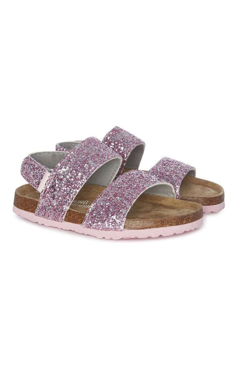 503b94702 Primark - Sandálias menina com brilhos cor-de-rosa   roupa crianca ...