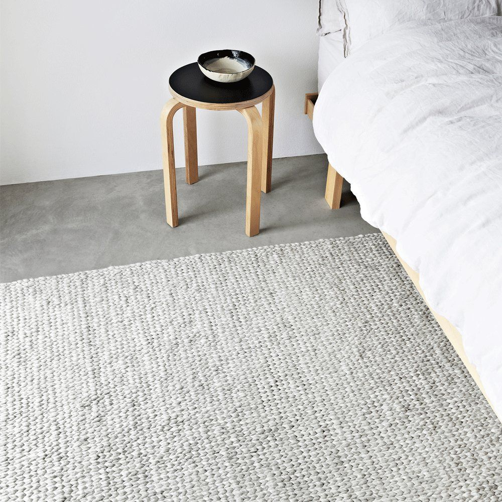 Sierra Weave Wool Rug In White And Light Grey From Armadillo