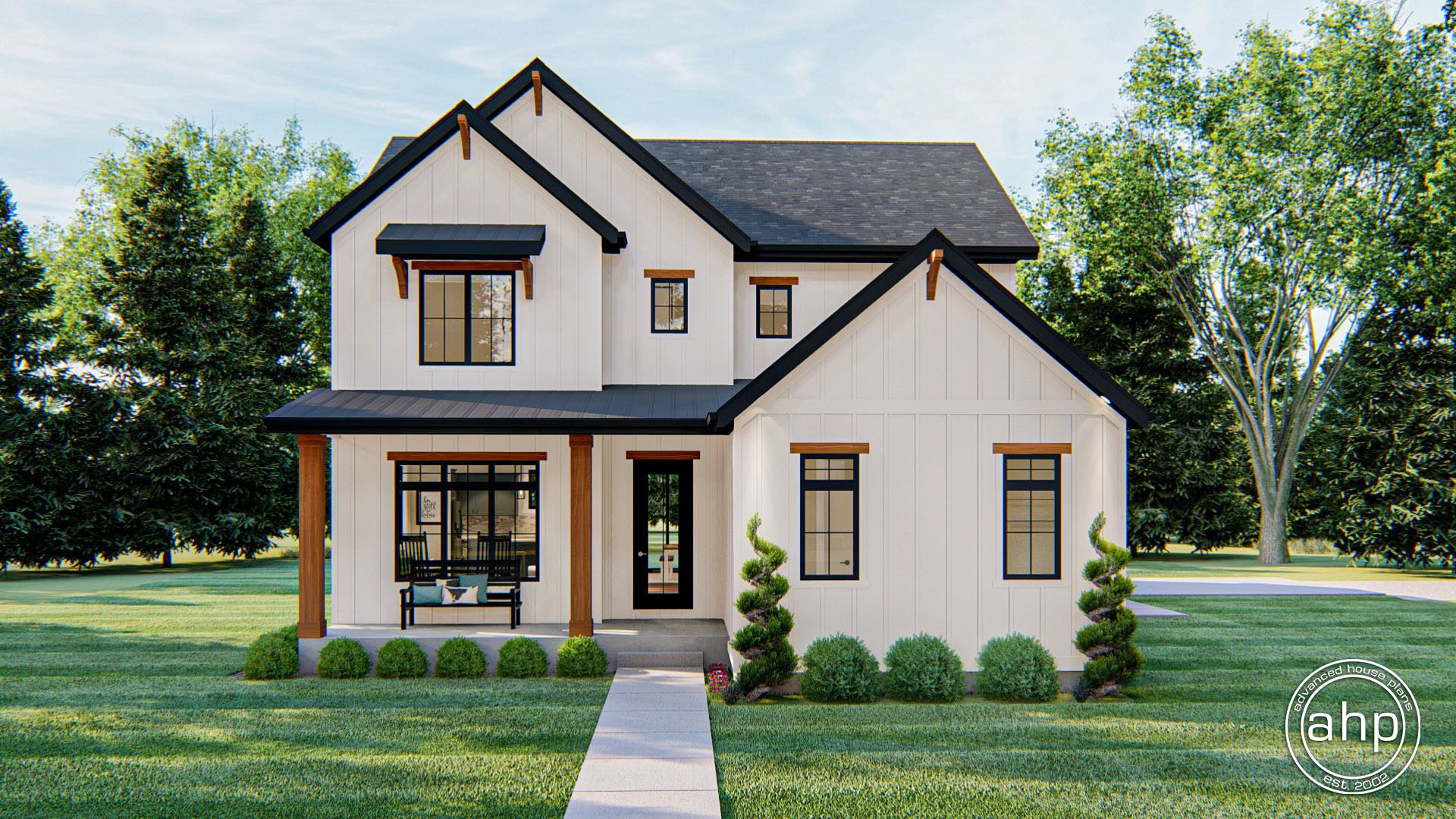 Applewood 1.5 Story Modern Farmhouse House Plan in 2020 ...