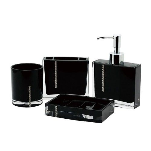 4 Piece Set Immanuel Crystal Bathroom Accessories