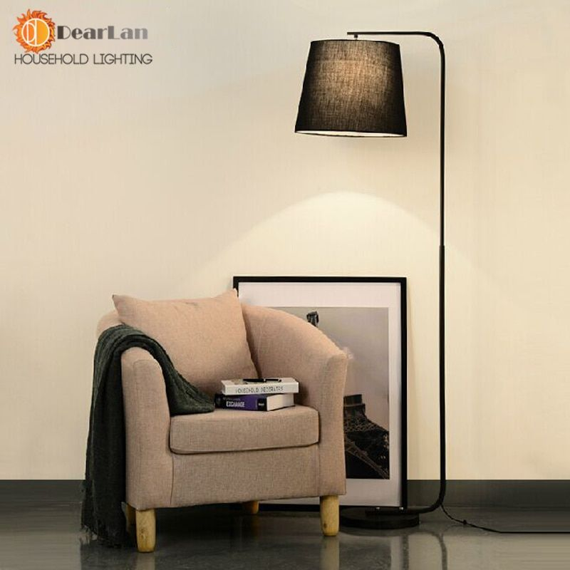 Modern Brief Fork Fabric Floor Lamp Modern Brief Bedroom ...
