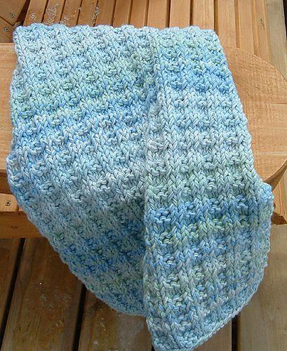 Ravelry Basket Rib Hand Towel Knitting Pattern With Cotton Yarn