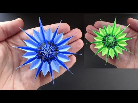 Paper Star for Christmas. How to make an easy paper snowflake Christmas decorations