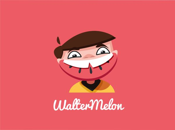WalterMelon by Tom Chegaray, via Behance