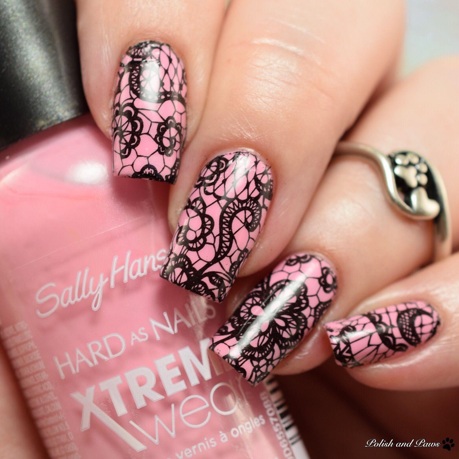 Milv Nail Art Water Decals With Sally Hansen Peach Babe Nails
